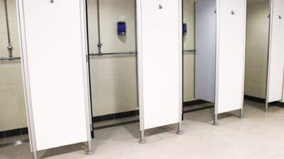 Shower stalls with Aspen stainless steel drainage